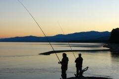 Fishing ashore