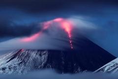 Kluchevskaya sopka volcano eruption