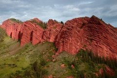 """""""Seven Bulls"""" on the south shore of Issyk-Kul"""