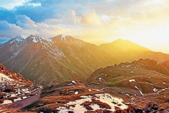 Medeo Gorge, a picturesque valley located some 15 kilometres above Almaty