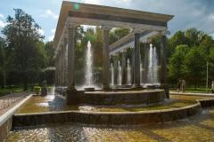 Lion's fontain in Peterhof
