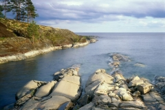 Ladoga lake rocky shores