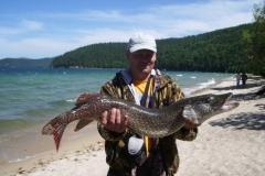 Fishing on Baikal lake