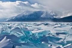 Turquois ice of Baikal