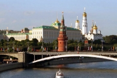 River view to the Moscow Kremlin